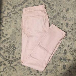 Light pink, modern slim cut jeans